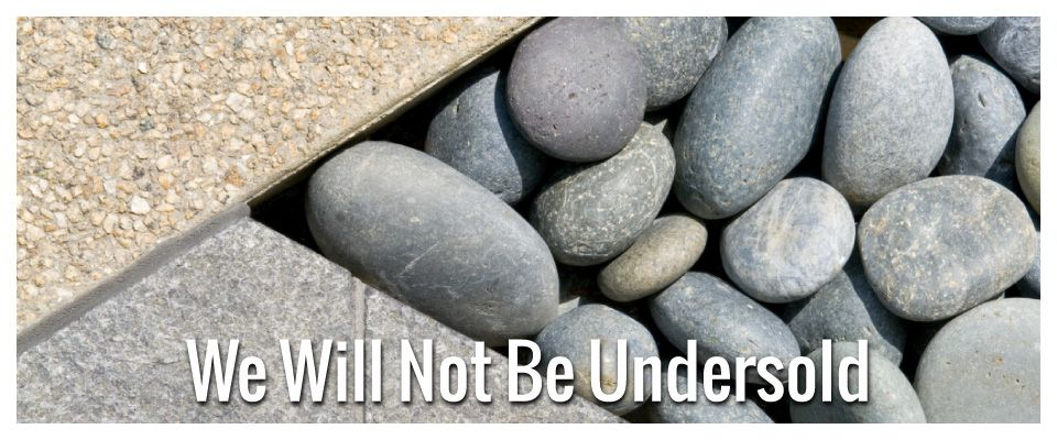 We Will Not Be Undersold | Concrete and rocks